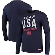 Team USA Olympics in Mountain Long Sleeve T-Shirt - Navy