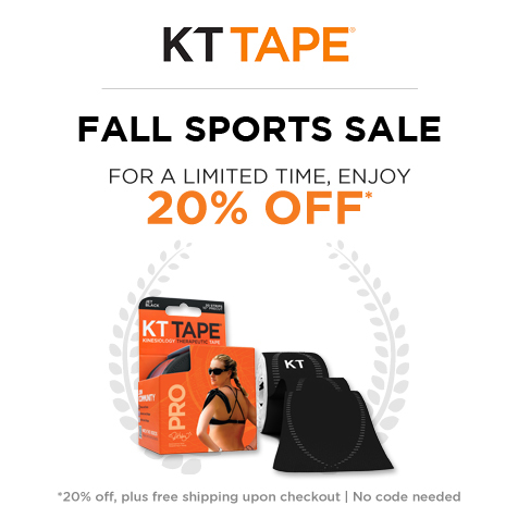 KT Tape | Fall Sports Sale! For a limited time, enjoy 20% Off + Free Shipping upon checkout | No Code Needed!
