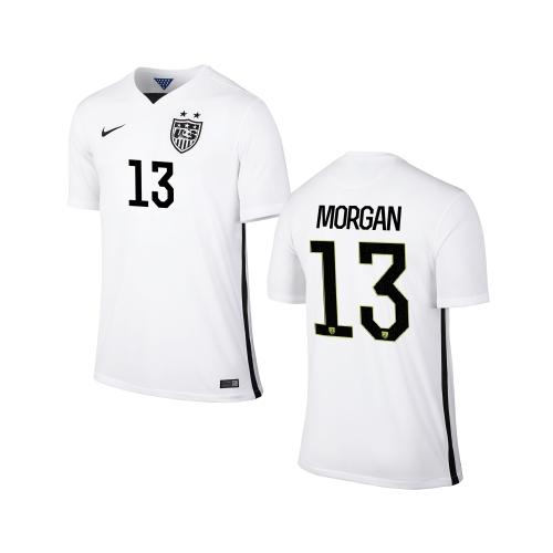 Nike USA Alex Morgan Youth Home Replica Jersey - White