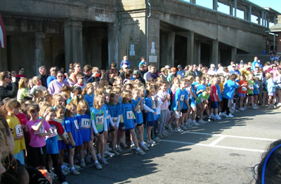 The starting line at the Great Train Race