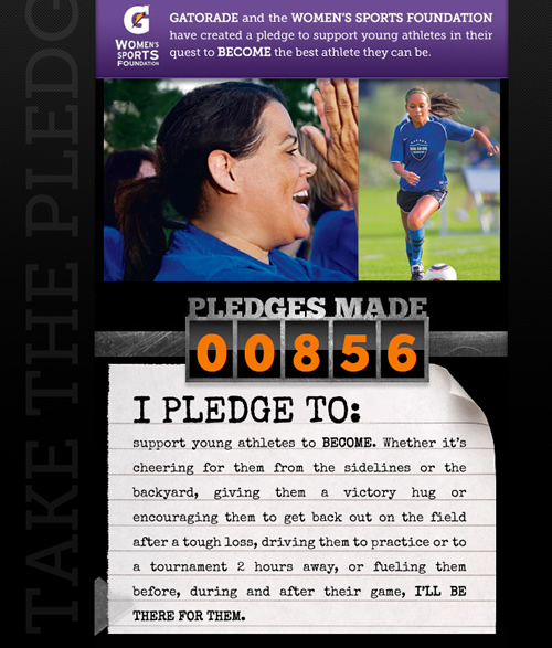 Gatorade and Womens Sports Foundation Pledge