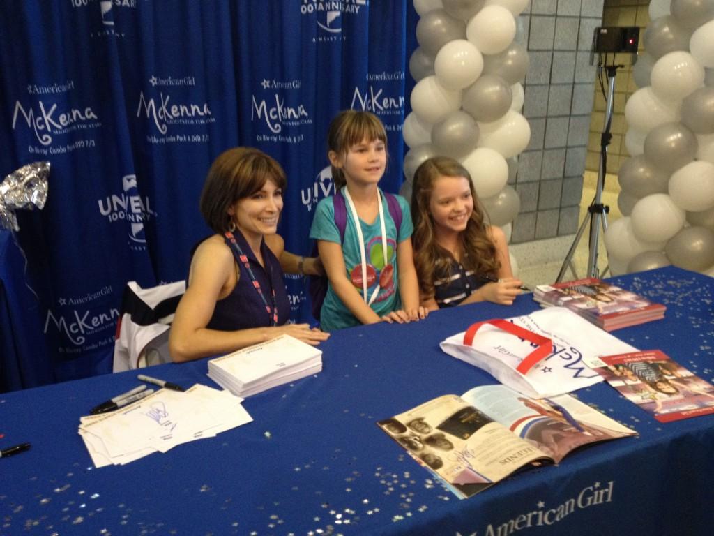 Shannon Miller and Jade Pettyjohn with Fan