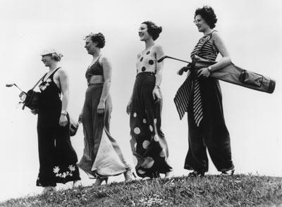 Womens Golf Fashions from 1930