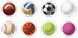 USPS Forever Stamps - Sports Balls