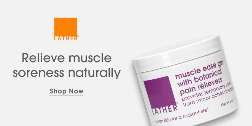 Natural Soreness Relief with Muscle Ease by LATHER